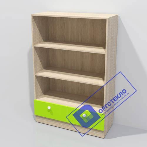 Стеллаж 900*400*1330 с цветными ящиками