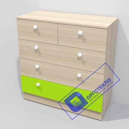 Комод 900*400*920 с нижним цветным ящиком