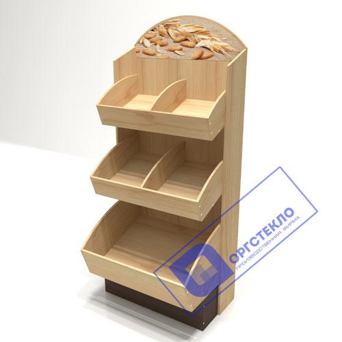 Торговый хлебный стеллаж