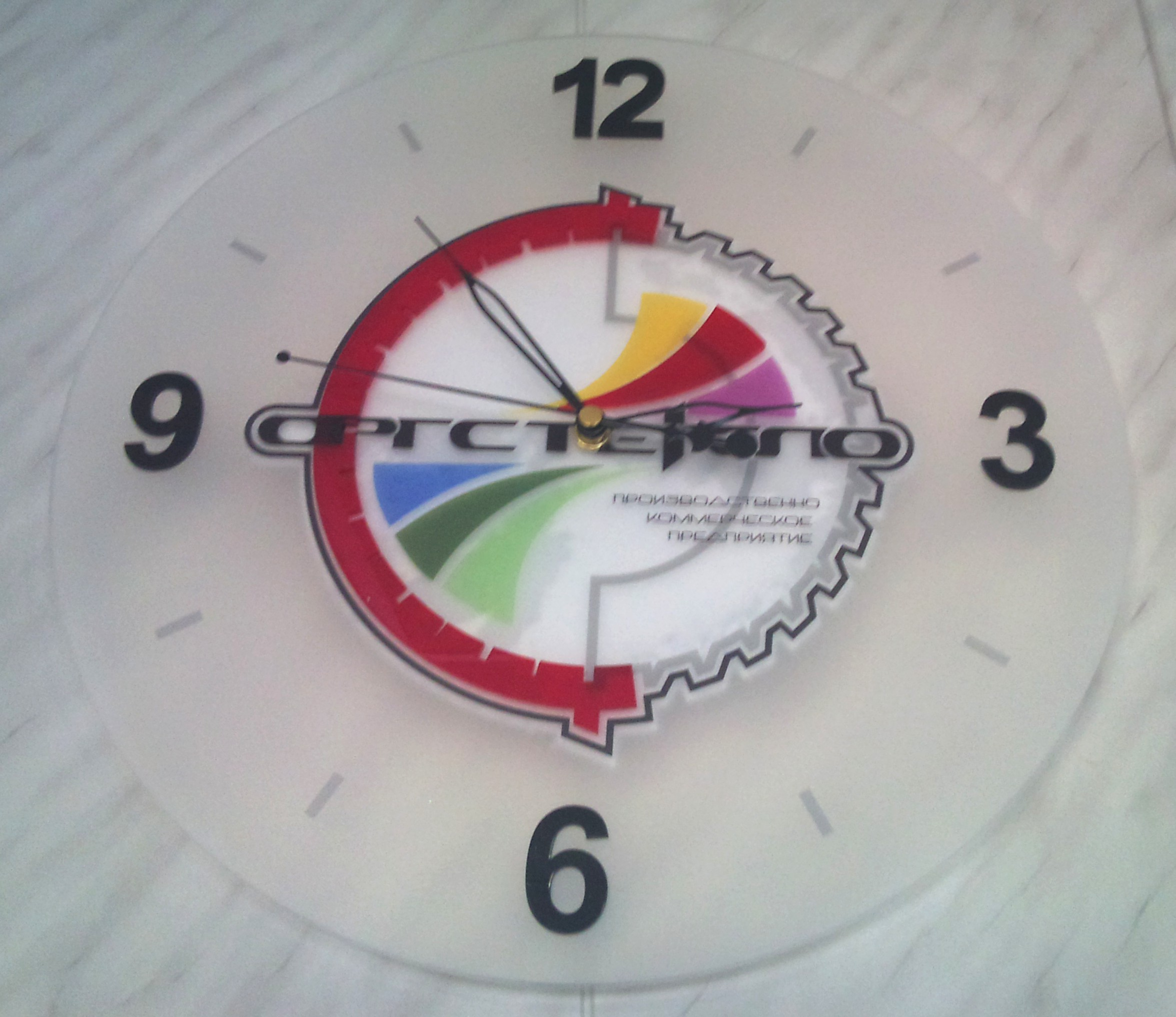 Часы из матового оргстекла