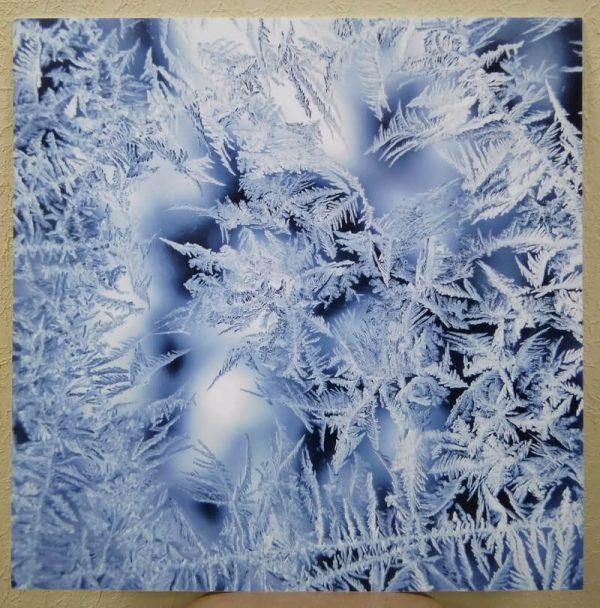 Постер без рамы «Узоры на стекле» 600x600 мм