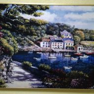 Картина в алюминиевой рамке Дом у реки