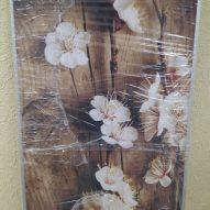 Картина в алюминиевой рамке Белые цветы
