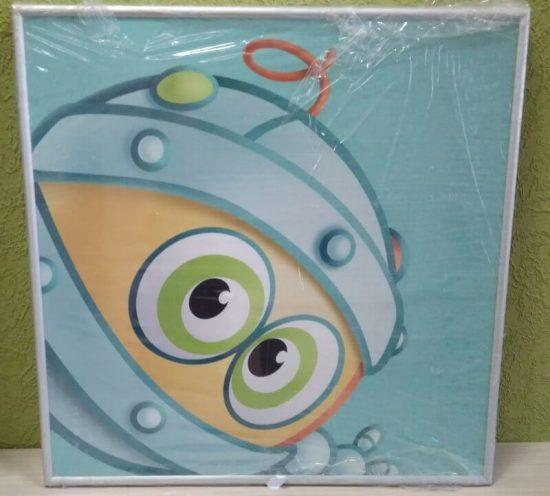 Постер в алюминиевой рамке «Биби» 400x400 мм