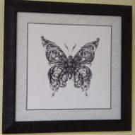 Картина в декоративной рамке Бабочка 300x300 мм