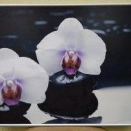 Картина в алюминиевой рамке Лилии 400x400 мм