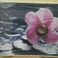 Картина в алюминиевой рамке Орхидея 400х400 мм