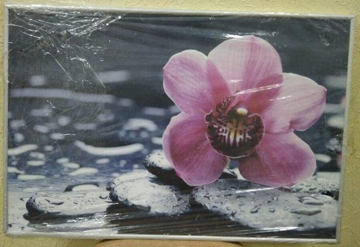 Постер в алюминиевой рамке «Орхидея» 400x400 мм