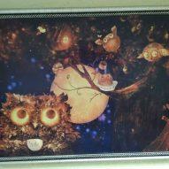 Картина в декоративной рамке Сказочные совы 425х295 мм