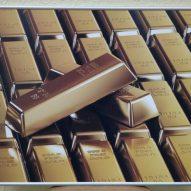 Картина в алюминиевой рамке Золото 400х400 мм