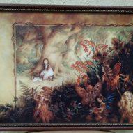 Картина в декоративной рамке Девочка в волшебном лесу