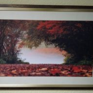 Картина в декоративной рамке Осенний лес 650x450 мм