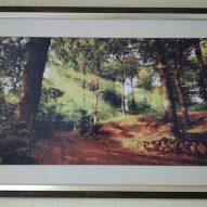 Картина в декоративной рамке Солнце в лесу 650х450 мм
