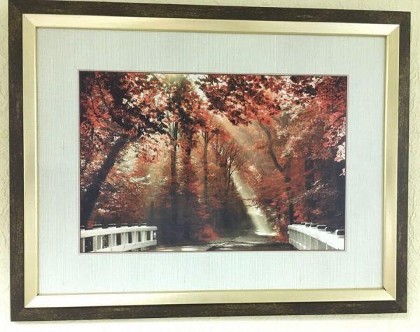 Интерьерная печать на пластике ПВХ «Осенний сад»