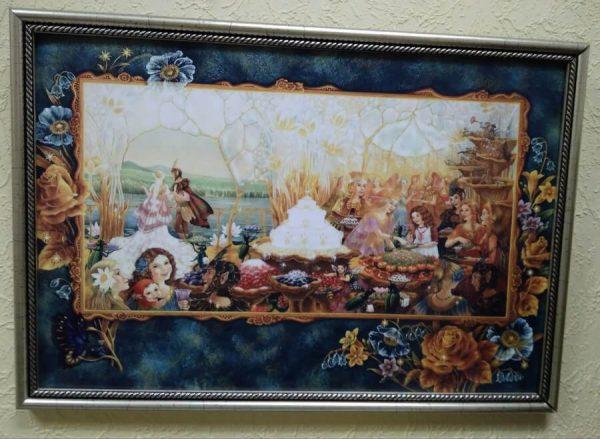Постер в декоративной рамке цветной 425x295 мм