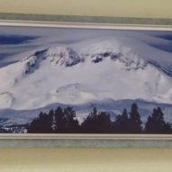 Картина в декоративной рамке Снегопад в горах