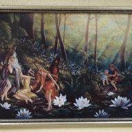 Картина в декоративной рамке Заколдованный лес