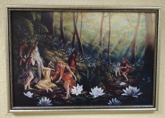 Постер в рамке «Заколдованный лес» 425x295 мм