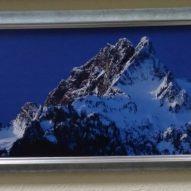 Картина в декоративной рамке Заснеженная вершина