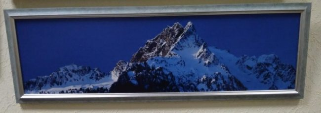 Постер в декоративной рамке «Горы» 740x240 мм