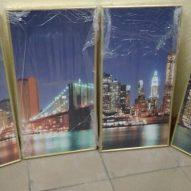 Картина в алюминиевой рамке Ночной город