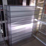 Стеллаж из монолитного поликарбоната 10 мм